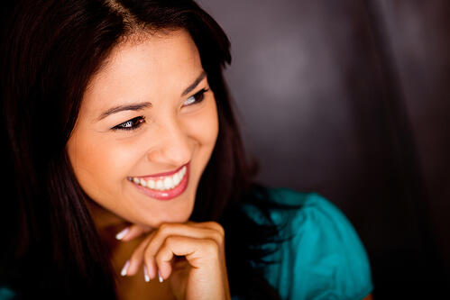 Portrait of a Latin woman smiling